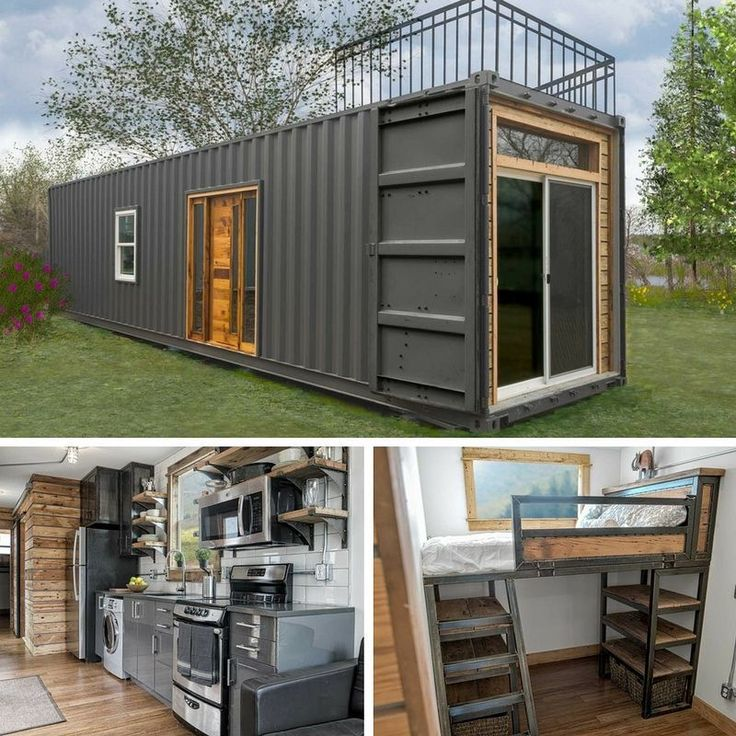 Websta tinyhousetown the freedom a sleek modern tiny home from minimalist homes the 300 sq ft home has a bedroom bathroom full kitchen