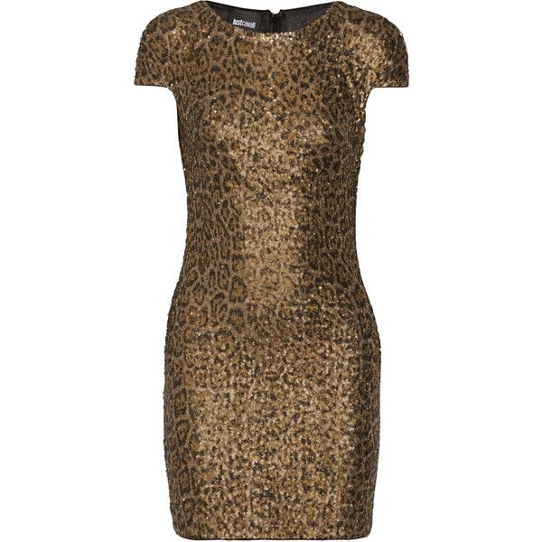Just Cavalli Leopard-print sequined tulle mini dress ($194) ❤ liked on Polyvore featuring dresses, leopard print, leopard print cocktail dress, tulle dress, brown sequin dress, short sequin cocktail dresses и sequin dress