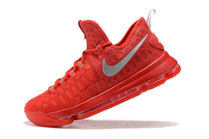 online store 243e0 80815 Factory Authentic KD IX 9 Flyknit Bright Crimson Metallic Silver Mens  Basketball Shoes 2018 Sale