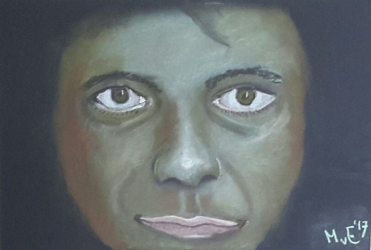 Staring from the darkness... softpastel.