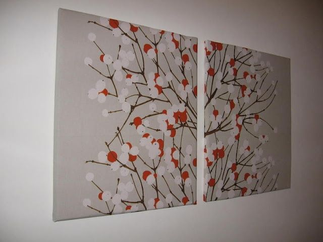fabric wrapped on canvas. great diy!