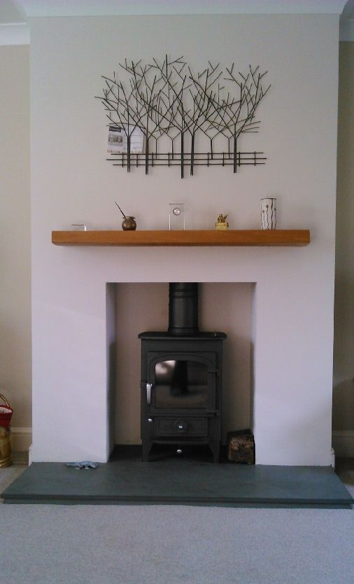 Clearview Pioneer 400 wood burning stove with floating beam