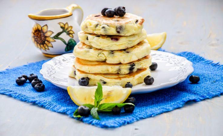 Andreea's Chinesefood blog: Pancakes cu lămâie și afine (fără gluten)