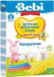 БЕБИ Премиум Кукурузная молочная каша с 5 мес 200г  — 142р. ---- Детская молочная кукурузная каша Bebi Premium    Детская кукурузная молочная каша Bebi может вводиться в рацион с 5 месяцев.   Поскольку зерно не содержит глютена, оно подходит для начала прикорма. Кукурузная молочная каша является для ребенка источником витаминов группы В, Е, А, РР, железа. Крупа обладает свойством торможения процессов брожения и гниения в кишечнике, снижая метеоризм. Кукурузная каша Bebi обогащена 13…
