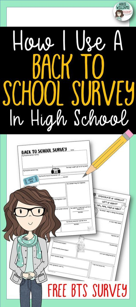 Creative ways to use a Back to School Survey in your classroom!