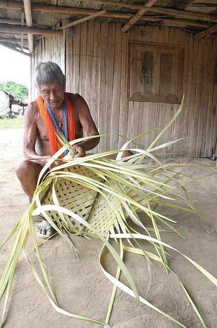 Basket making in Suriname. Photograph by Sensaos, via Flickr