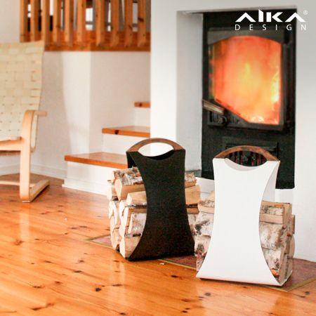 AIKAdesign - HALI säväyttää niin ulkonäöllään kuin kiistattomalla toimivuudellaankin. Se tarjoaa uudenlaista muotoilua, luotettavuutta ja arjen askareita helpottavaa käytännöllisyyttä. Kevyt, ergonomisesti muotoiltu AIKA sopii niin isän kuin tyttärenkin käteen. HALI log carrier #aikadesign #aika #hali #design #puunkannin #puunkantoteline