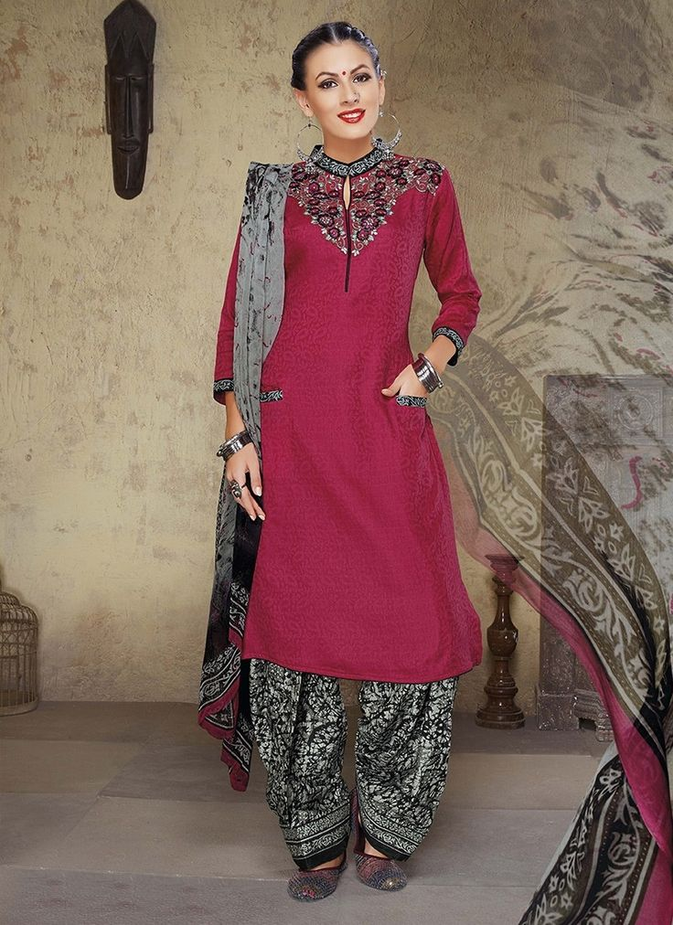 Maroon Cambric Cotton Pakistani Salwar Suits #salwar #salwarkameez #salwarsuits #patialasuits #pakistanisalwarkameez #punjabipatialasuits