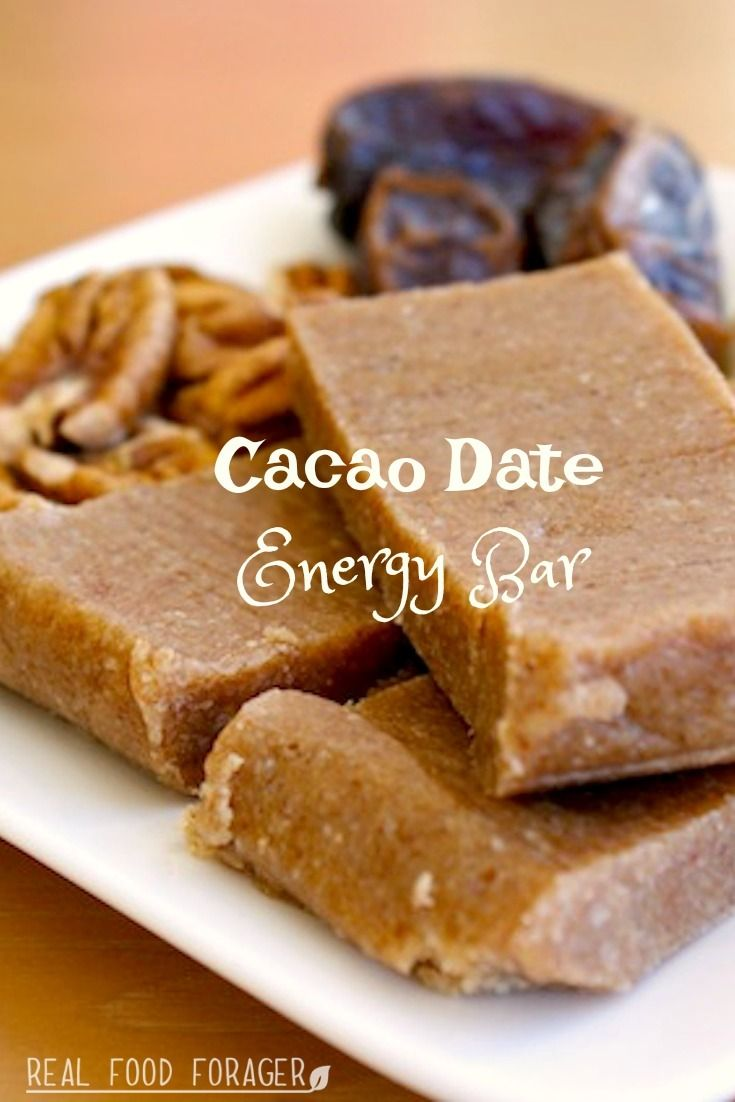 Cacao Date Energy Bar (SCD/GAPS). Wow!  Pecans, dates and cacao a bit of honey is all you need!