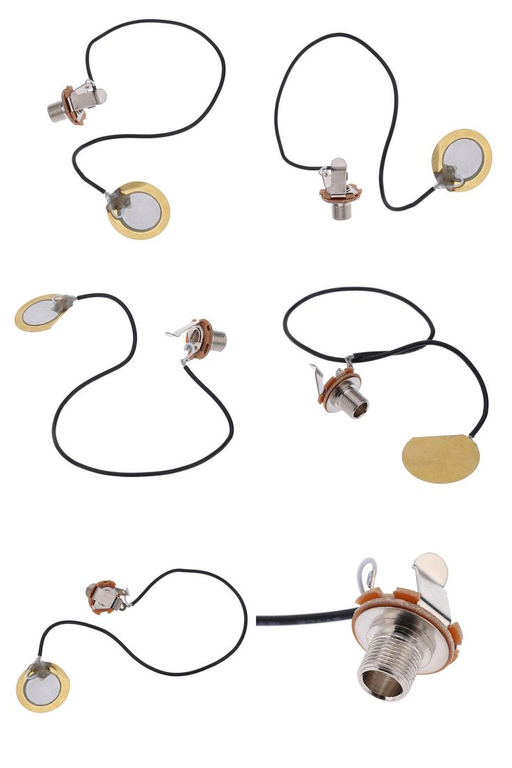 [Visit to Buy] Acoustic Guitar Transducer Pre-Wired Amplifier Piezo Jack Pickup Accessory For Ukulele Mandolin Banjo String Music Instruments #Advertisement