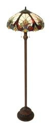 @Overstock - Invite an air of yesteryear into your home with this traditional Victorian floor lamp. The Tiffany-inspired mosaic-glass shade introduces a variety of colors to match any room, and the 63-inch height makes it an excellent lamp for readers.http://www.overstock.com/Home-Garden/Victorian-Floor-Lamp-with-Bronze-Base/3442932/product.html?CID=214117 $176.99