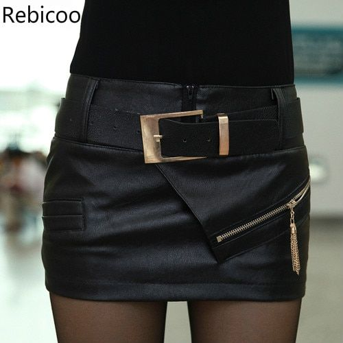 b1391219e US $11.88 |2018 New Arrived Skirt Spring Autumn And Winter Leather Pu Short  Skirt Plus Size Xxl Mini Skirt Faldas Jupe Sexy Pencil Skirts -in Skirts  from ...