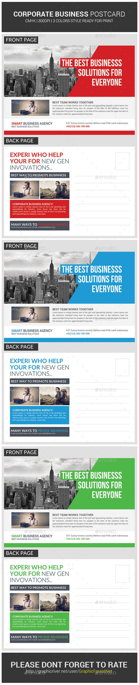 Corporate Business Postcard Template PSD   Buy and Download: http://graphicriver.net/item/corporate-business-postcard-template/9818095?ref=ksioks