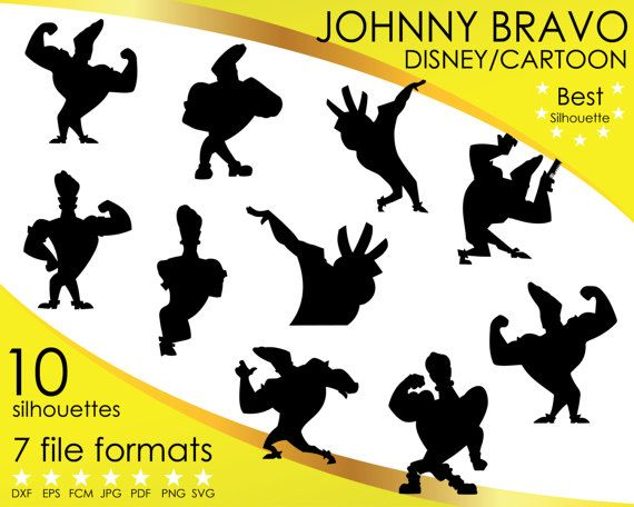 Hey, I found this really awesome Etsy listing at https://www.etsy.com/listing/501455834/10-silhouettes-johnny-bravo-muscle-man
