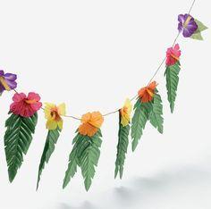 http://Amazon.com: 4 Strands Hibiscus Flowers & Leaves Garland Luau Party Decor Hawaiian Wedding Decoration: Toys & Games
