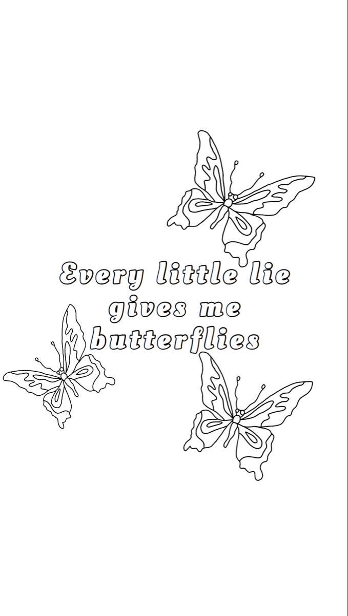 Jennifer Joann Jenniferjoann Tiktok Tumblr Coloring Pages Butterfly Line Art Mini Drawings
