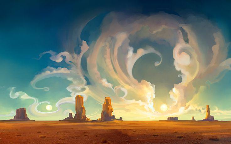 desert reality artwork drawings - Wallpaper (#487504) / Wallbase.cc