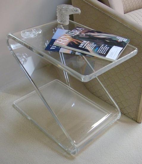 Acrylic Z Table,Lucite Telephone/sofa/magazine/Laptop Tables