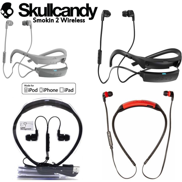 New Skullcandy SMOKIN BUDS 2 Wireless Bluetooth Earphones with Mic Black white