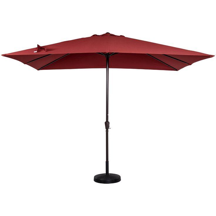 Red Rectangular Patio Umbrella