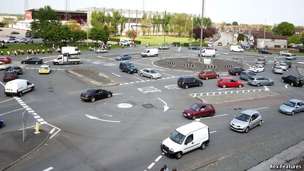 """Like parliamentary democracy, roundabouts are a great British export with a risk - """"Yet roundabouts tend to work only when motorists observe the British virtues of fair play and stick to the rules. Alas, this is not always the case."""""""