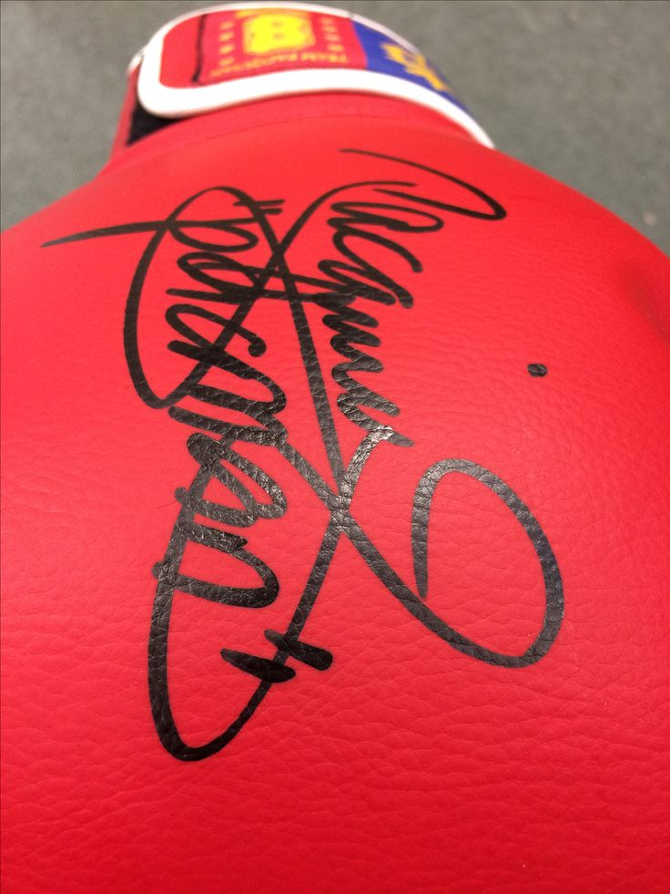 Manny Pacquiao Signed Red Boxing Glove.