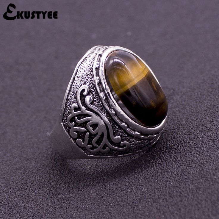 Cheap fine jewelry, Buy Quality men ring directly from China silver plated Suppliers: New Men Rings Natural Stone Silver Plated Vintage Ring Fashion Jewelry 8-11 Size