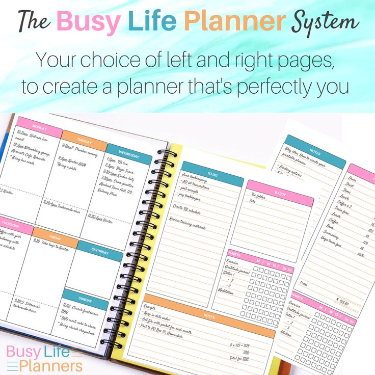 An amazingly versatile DIY printable planner. Lots of layout options plus editable headers, and different paper sizes.