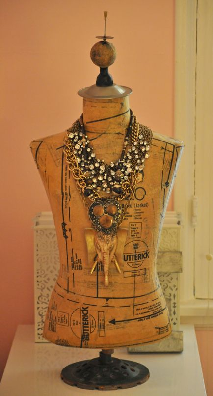 using old patterns to decoupage mannequin