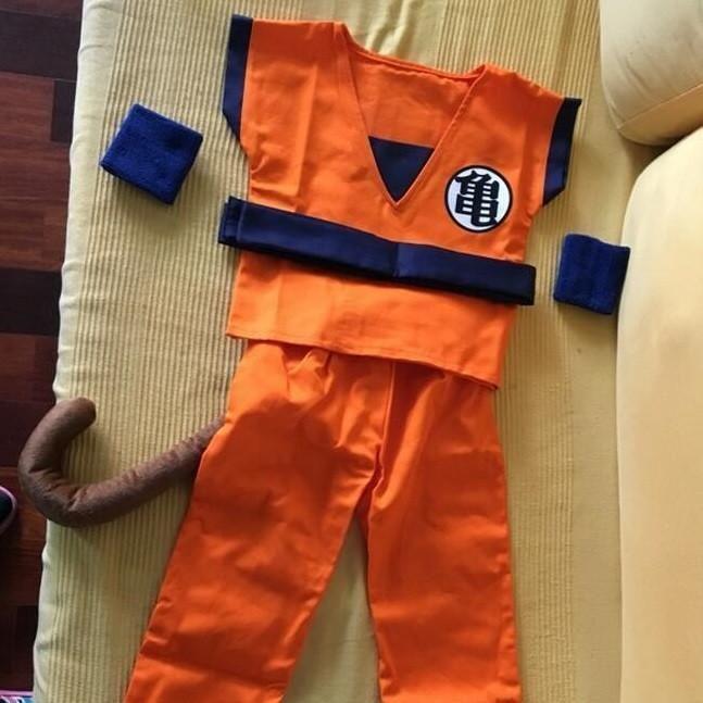 Dragon Ball Goku Saiyan Kid Training Uniform Symbol Cosplay Costume Dbz Dragonball Costumes Goku Outfit Dragon Ball Goku Cosplay Costumes
