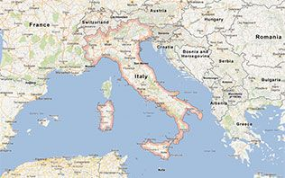 Italy vacation home page