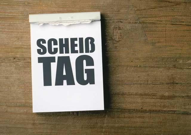 scheisstag | Postkarte mit lustigen Sprüchen – Scheißtag Postkarten Lustige ...