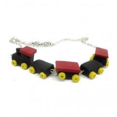 Cuf cuf kolye  #tarz #kırmızı #tasarım #moda #tasarımcı #design #style #fashion #train #wagon #railroad #necklace #kolye #red #unique