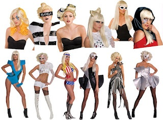 There are some crazy Lady Gaga outfits for 2012, ranging from Lady Gaga Bad Romance to Lady Gaga the All American girl.    Lady Gaga Outfits for Halloween 2012 will give you an idea on finding the perfect Lady Gaga Outfit to wear this years Halloween.