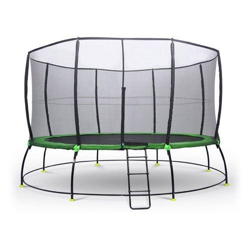 Outward Play Round HyperJump Plus Springless Trampoline with Safety Net Enclosure