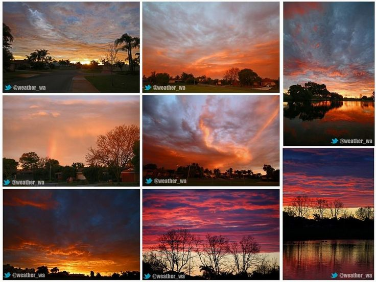 Sunset, Perth, Western Australia Taken by @weather_wa 13/08/2014