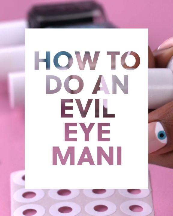 How to Do an Evil Eye Mani #blinkbeauty #nailart #nailarttutorial #nailideas