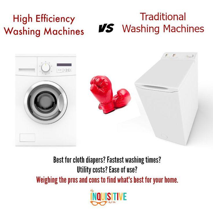 HE Washing Machines vs Traditional Washing Machines.