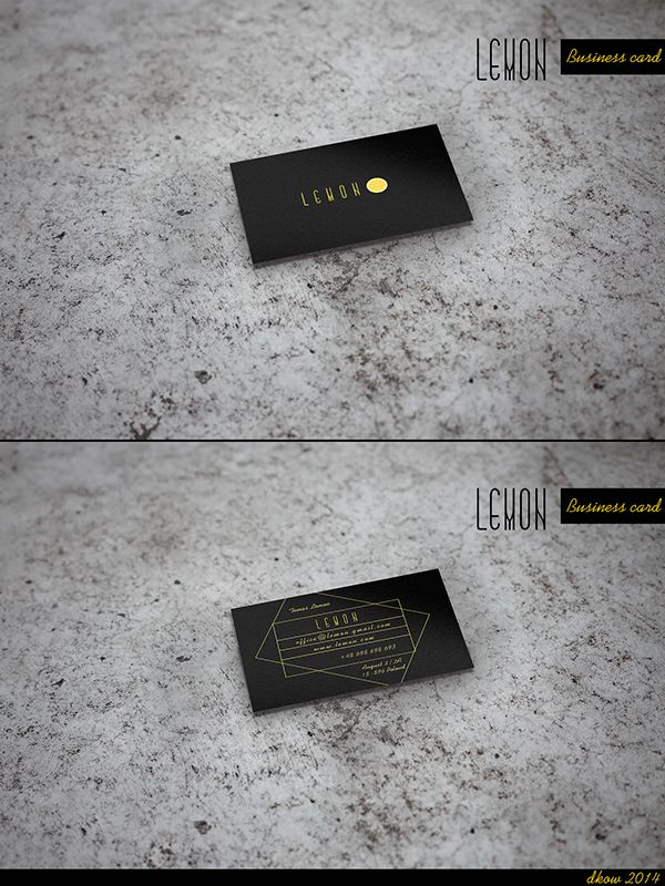 "Business card "" Lemon "" by Dorota Kowalewska, via Behance"