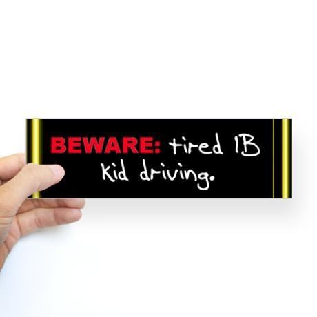 The ib shop beware bumper bumper sticker new orleans