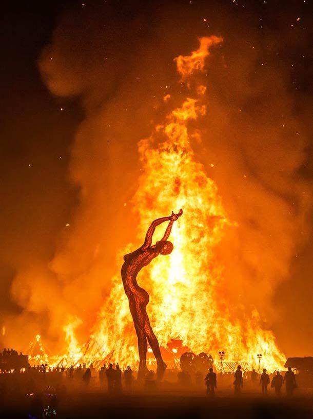 Giant female construction, Burning Man festival, Black Rock Desert, Nevada,Trey Ratcliff