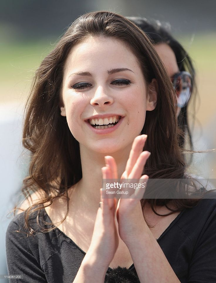 Singer Lena Meyer-Landrut of Germany sails on a ship on the Rhine River during the Eurovision Song Contest 2011 on May 11, 2011 in Duesseldorf, Germany.