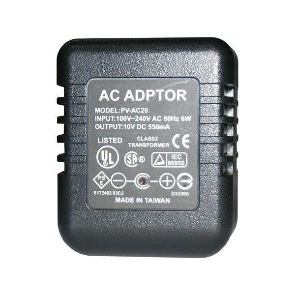 PV AC20. A simple vista este dispositivo se parece a un adaptador de corriente o al cargador del teléfono. Pero en su interior tiene una cámara oculta con una lente de ángulo muy amplio, de vídeo digital con grabadora de audio.