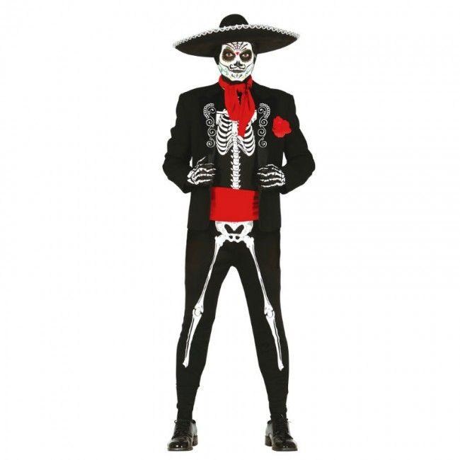 Disfraz Esqueleto Mexicano adulto #disfraces #carnaval #novedades2017