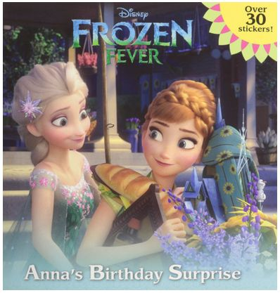 Little girls would love this in their Easter basket!  Sticker books are fun! Disney Frozen Fever Anna's Birthday Surprise Book with Stickers! - A Thrifty Mom
