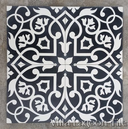 Gypsy Black And White Cement Tile From Villa Lagoon Tile