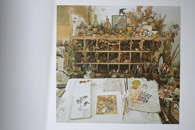artist Jill Barklem's desk