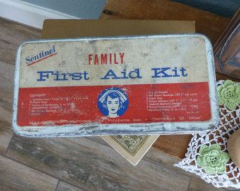 Vintage First-Aid Box with Original Contents