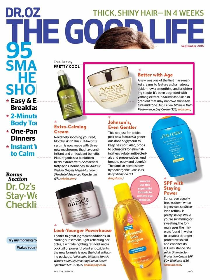 Our ANEW Ultimate Multi-Performance Day Cream was featured in @doctoroz as a…