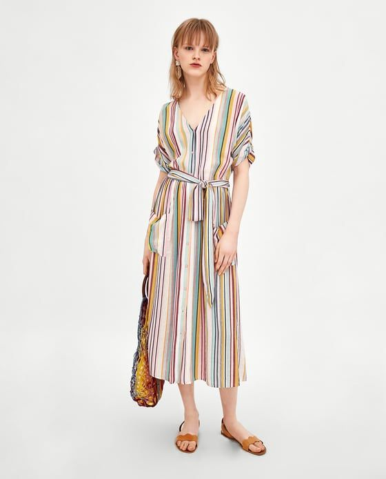 0d5988096f ZARA - TRF - STRIPED MIDI DRESS